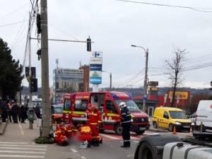 Accident grav pe Calea Unirii, miercuri dimineață
