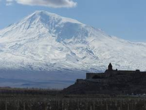 Muntele Ararat, văzut din Armenia