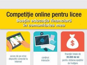 """Competiția online """"Susțin educația financiară în comunitatea mea"""""""