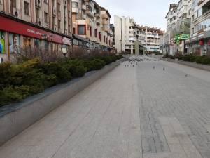 Mult mai puțini suceveni pe străzi. Centrul Sucevei era aproape pustiu