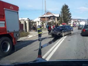 Autoturismul BMW implicat în accidentul de la Gura Humorului