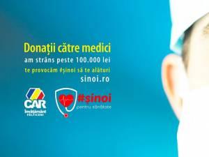 Donație de 100.000 de lei pentru spitalele din Suceava și Fălticeni, de la CAR Învățământ Fălticeni