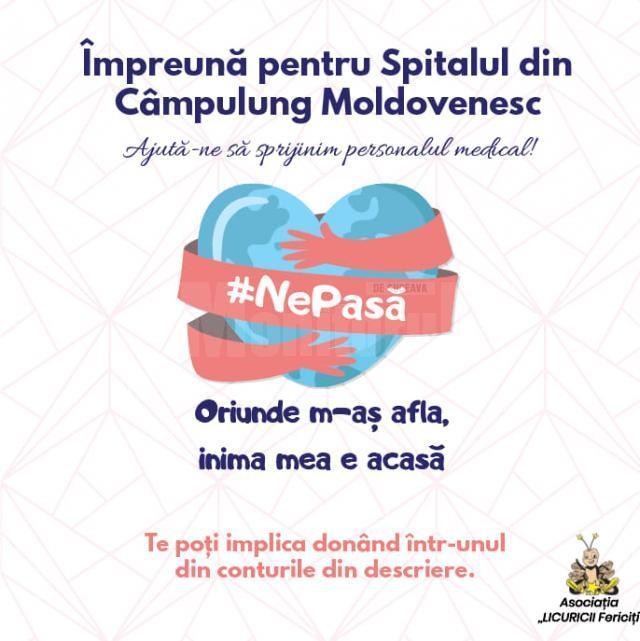 """Asociația """"Licuricii fericiți"""" a lansat campania """"Împreună pentru Spitalul din Câmpulung Moldovenesc"""""""