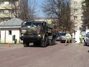 Peste 70 de militari au venit să ajute la dezinfecția Sucevei Sursa Foto: MApN