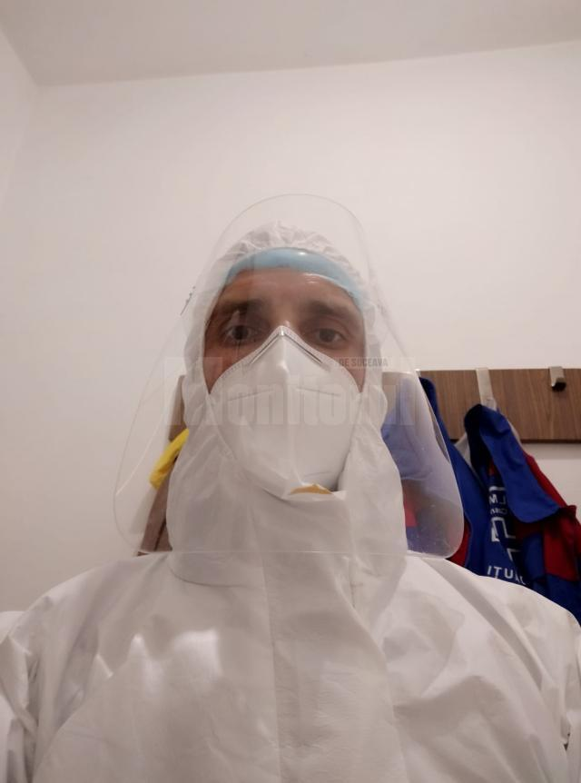 Iulian Ionesi a dat tricoul de fotbalist pe echipamentul de dezinfectator