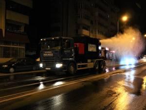 Atomizorul capabil să elimine de pe suprafeţe şi din aer bacteriile şi virusurile acționează de luni pe străzile Sucevei