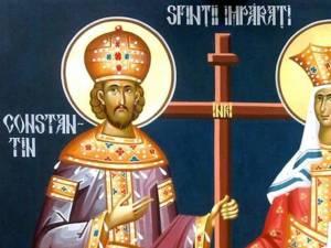 """Sfinţii Împăraţi Constantin şi Elena, cei """"întocmai cu apostolii"""""""