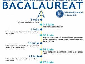 Calendarul examenului de bacalaureat din acest an