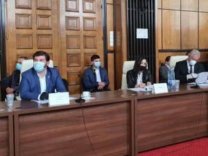 Lansarea și accelerarea proiectelor de infrastructură rutieră din Zona Moldovei, la care a participat și primarul Sucevei