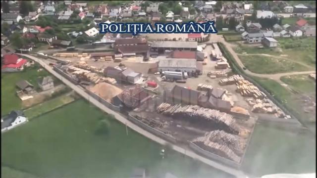 Imagini surprinse în timpul acțiunii de control derulate timp de patru zile la agenți economici din domeniul forestier, în județul Suceava