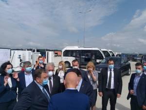 Baza auto a diviziei electrice de transport în comun a Sucevei, vizitată sâmbătă de delegația oficială