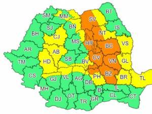 Județul Suceava, împărțit între codul portocaliu și cel galben