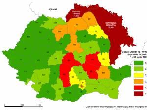 Situația actualizată a județului Suceava la nivel regional și național în contextul pandemiei COVID-19