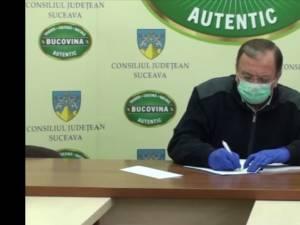 Presedintele CJ Suceava, Gheorghe Flutur