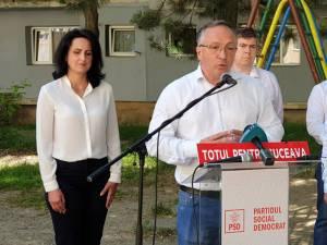 Dan Ioan Cuşnir şi candidații PSD din cartierul Burdujeni pentru CL Suceava