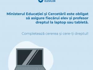 Model tipizat de cerere pentru elevii care solicită laptopuri sau tablete de la Ministerul Educației