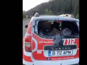 Distrugerile provocate mașinii lui Tiberiu Boșutar după atacul de marți seara