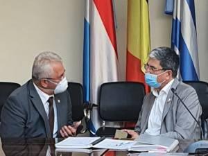 Primarul Ion Lungu în discuții cu ministrul Marcel Boloș, la Ministerul Fondurilor Europene