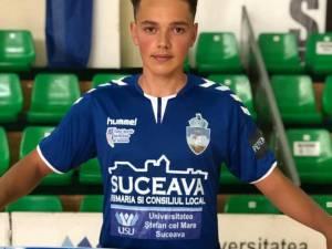 Daniel Stanciuc a fost cooptat în lotul echipei de seniori a CSU Suceava