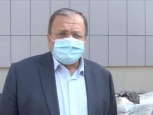 Gheorghe Flutur şi managerul Spitalului Judetean, dr. Alexandru Calancea