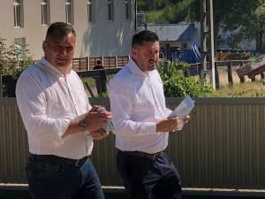 Ioan Bogdan Codreanu, candidatul PMP pentru funcția de președinte al CJ Suceava, şi Florin Maciuc, candidatul PMP pentru Primăria Şerbăuţi