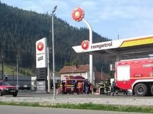 Benzinăria în care a avut loc explozia