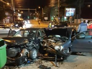 Accidentul din intersecția din fața Primăriei Suceava