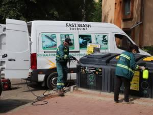 Igienizarea și dezinfecția platformelor moderne de colectare a deșeurilor menajere continuă în municipiul Suceava, în scopul prevenirii și combaterii coronavirusului