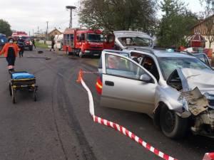 4 minori și 3 adulți, implicați într-un accident produs în comuna Satu Mare