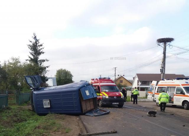 Patru minori și trei adulți, implicați într-un accident produs în comuna Satu Mare
