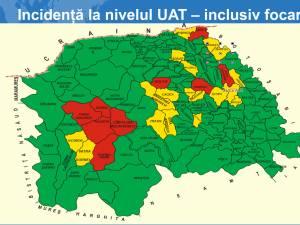 Incidența cazurilor la nivelul unităților administrativ-teritoriale