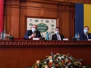 Premierul României, Ludovic Orban, a fost prezent la şedinţa de constituire a Consiliului Judeţean Suceava