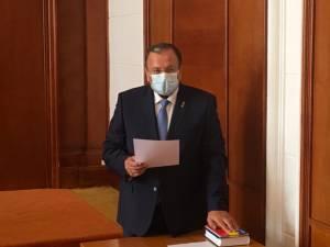 Gheorghe Flutur a depus jurământul pentru al treilea mandat de președinte al Consiliului Județean Suceava