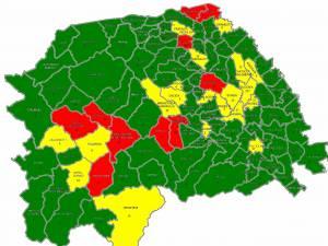 Distribuția cazurilor Covid în județul Suceava