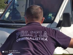 Polițiștii criminaliști au ridicat probe de la fața locului