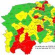 20 de localități din județ sunt în scenariu roșu. Iată harta actualizată