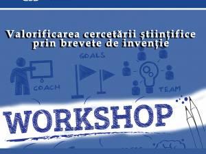 """""""Valorificarea cercetării științifice prin brevete de invenție"""" în cadrul unui workshop la USV"""