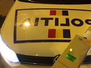 """Un șofer care a """"ras"""" o dublă de coniac, prins după ce a întors pe linia continuă Foto ordinea.ro"""