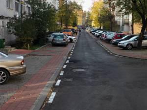 În cartierul George Enescu au fost amenajate 654 locuri de parcare rezidențiale, în special pe străzile Lazăr Vicol și Zorilor