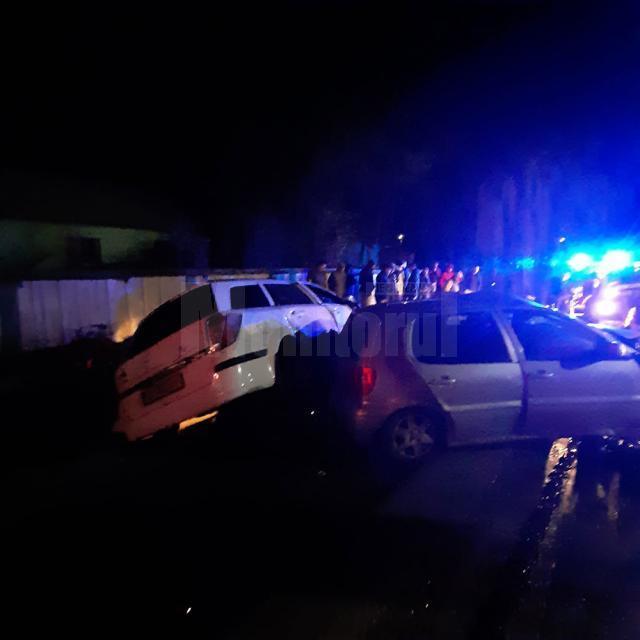 Autoturismele implicate în accident la Bălcăuți, zona Ratoş