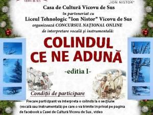 """Concursul național online de interpretare vocală și instrumentală """"Colindul ce ne adună"""", ediția I"""
