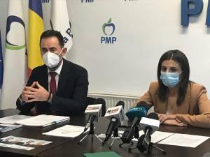 Marian Andronache şi secretarul general adjunct al PMP, Ioana Constantin