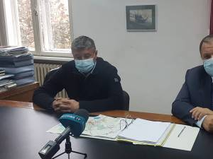 Primarul din Fălticeni, Cătălin Coman, şi președintele Consiliului Județean Suceava, Gheorghe Flutur