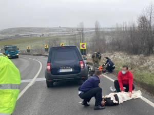 Intervenție a doi ofițeri ISU aflați în trafic, pentru salvarea victimelor unui accident