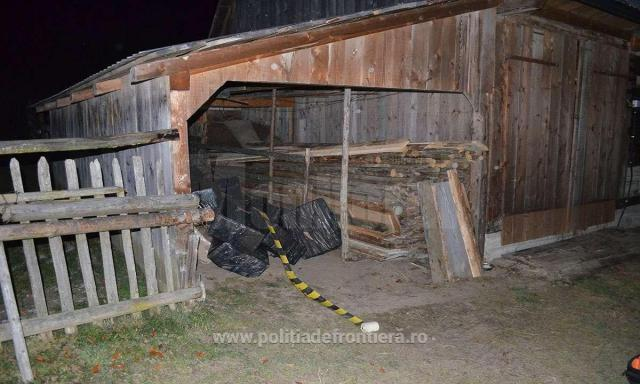 Țigări de contrabandă de aproape 40.000 de euro, confiscate la Falcău
