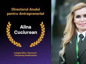 """Prof. Alina Cuciurean, directorul Colegiului Silvic """"Bucovina"""", desemnată Directorul Anului 2020 pentru Antreprenoriat"""