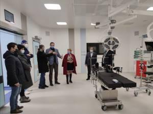 Conducerea regiunii Cernăuți a vizitat noul bloc operator al Spitalului Județean Suceava