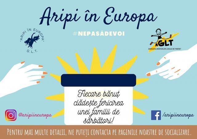 """Grupul Local de Tineret """"Aripi în Europa"""" ajută familiile nevoiaşe"""