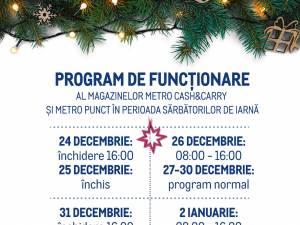 Programul de sărbători