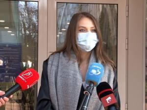 Studenta la Medicină Raluca Savu, voluntar în sectorul Covid, s-a vaccinat duminică la Spitalul Suceava